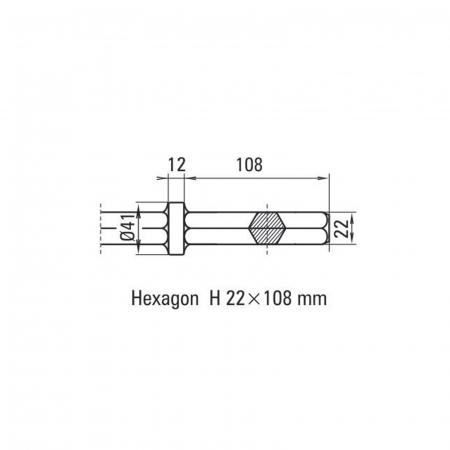 Daltă pentru asfalt Solida prindere H 22 x 108 mm [1]
