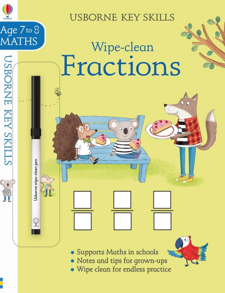 Wipe-clean Fractions 7-8 0