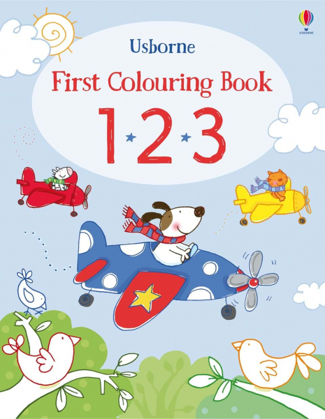 First colouring book 123 0