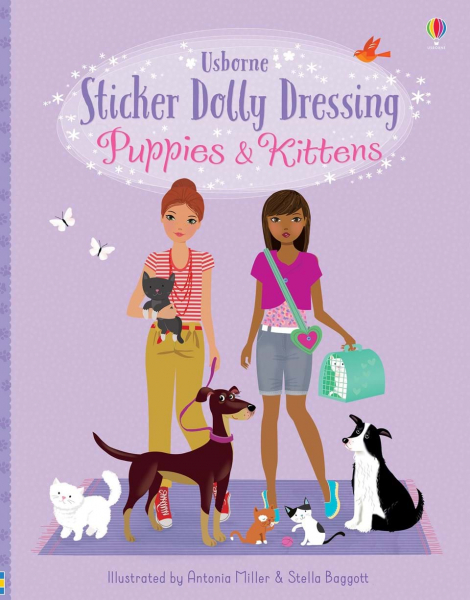 Sticker Dolly Dressing Puppies and Kittens 0