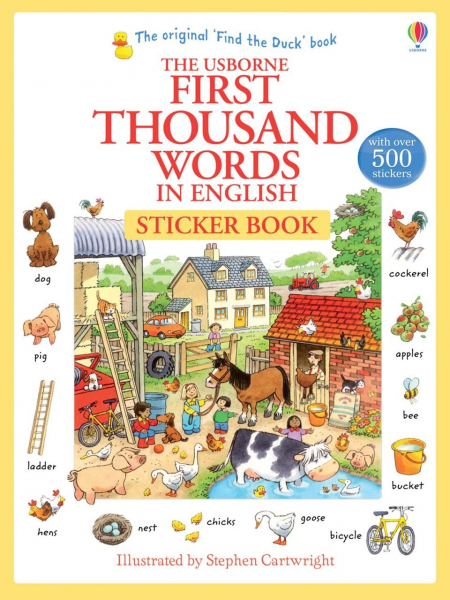 First thousand words in English sticker book 0