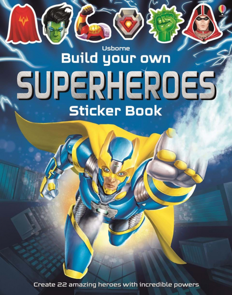Build Your Own Superheroes sticker book 0
