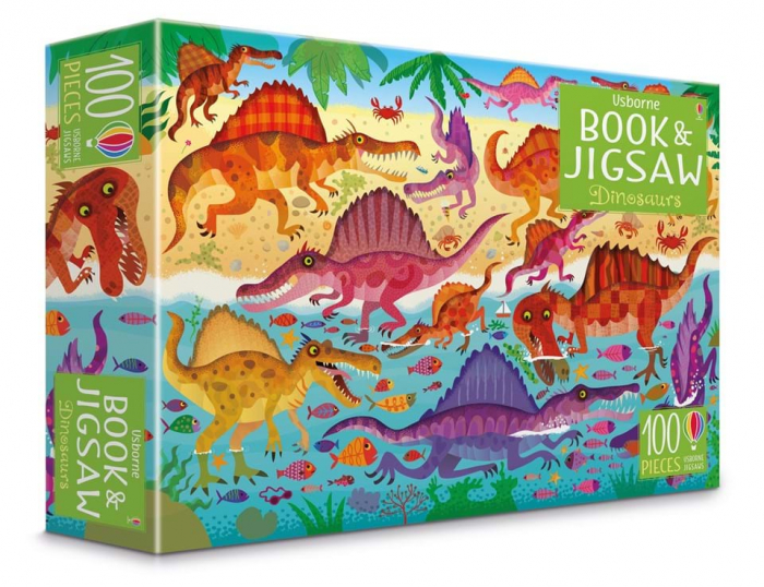 Dinosaurs puzzle book and jigsaw usborne 0