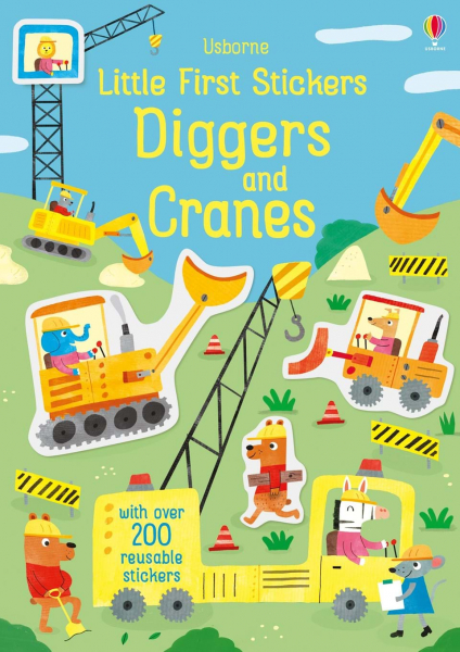 Little First Stickers Diggers and Cranes 0