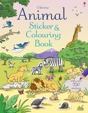 Animal Sticker and Colouring Book 0