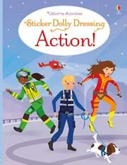 Action! Series: Sticker dolly dressing By Fiona Watt 0