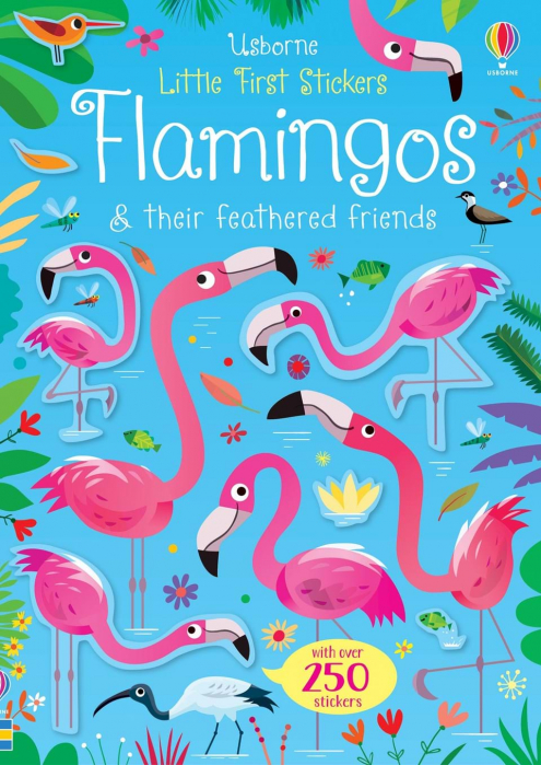 little first sticker flamingos usborne 0