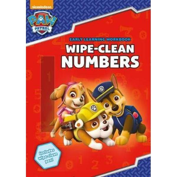 Paw Patrol Numbers Wipe Clean 0