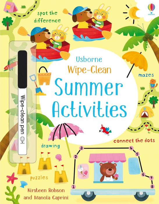 wipe clean summer activites usborne 0