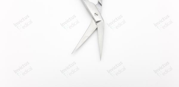 4011 - Foarfece chirurgicale, maner curbat, LOCKLIN - 16 cm 1