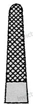4072 - Port-ac drept cu carbura de tungsten MATHIEU 3-0 - 5-0 - 14 cm 1