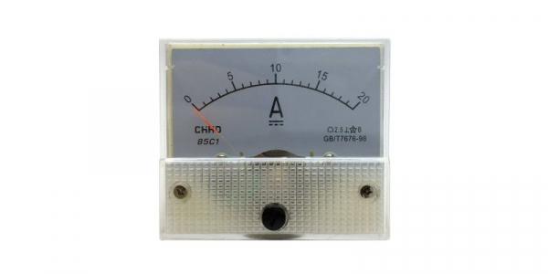 Ampermetru analogic de panou 20A curent continuu [0]
