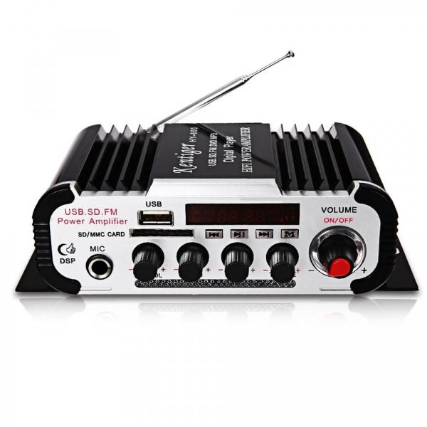 Amplificator audio  HY-600 cu radio FM, USB, microSD [0]