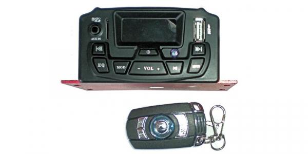 Amplificator audio MP3 pentru motociclete, microSD, USB [0]