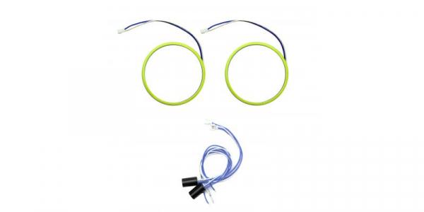 Angel eyes 80mm, LED COB Alb Rece, cablu 60 cm + driver detasabil LED70-80A [1]