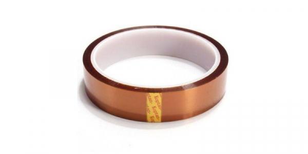 Banda izolatoare termorezistenta autoadeziva poliimida 20mm x 30m 280°C [1]