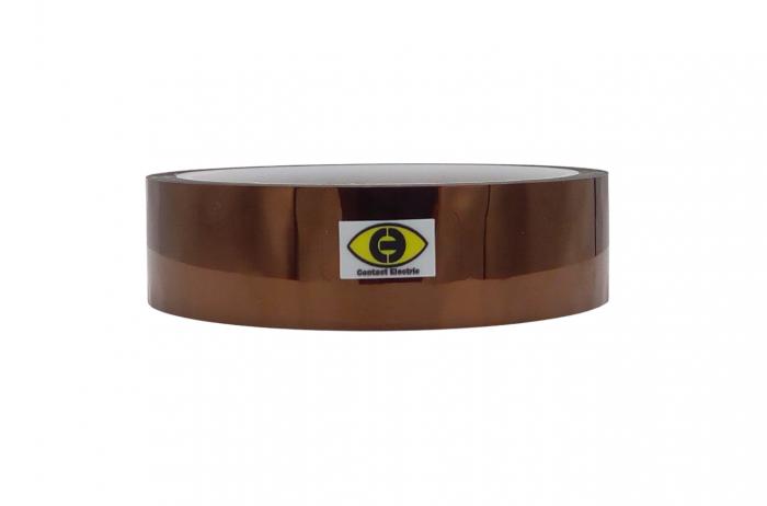 Banda izolatoare termorezistenta autoadeziva poliimida 25mm x 30m 280°C [0]