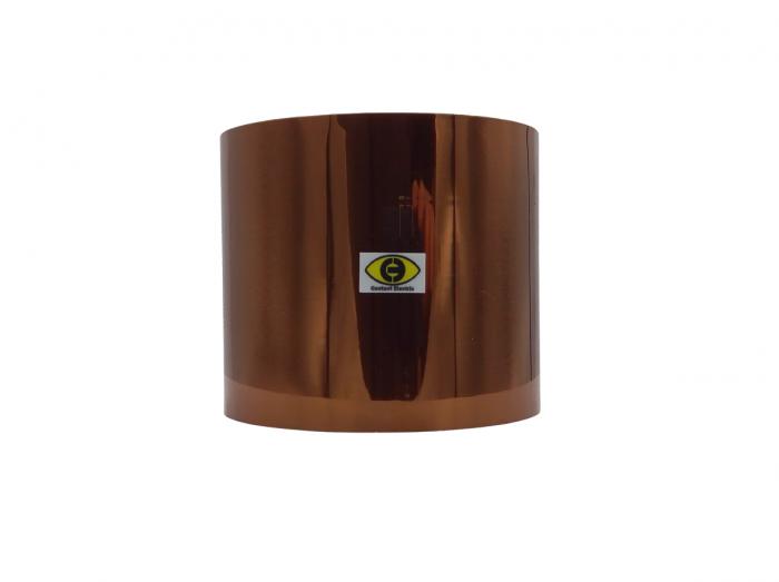 Banda izolatoare termorezistenta autoadeziva poliimida 80mm x 30m 280°C [0]