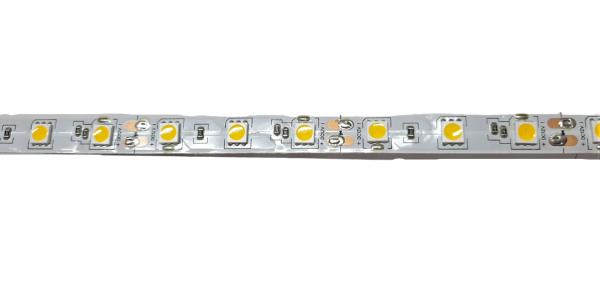 Banda LED 5050 Alb Cald 12V, 60 LED pe metru, IP20 [1]