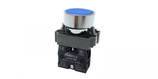 Buton albastru cu apasare cu un contact si 2 pozitii LA167-B2-BA61 [0]