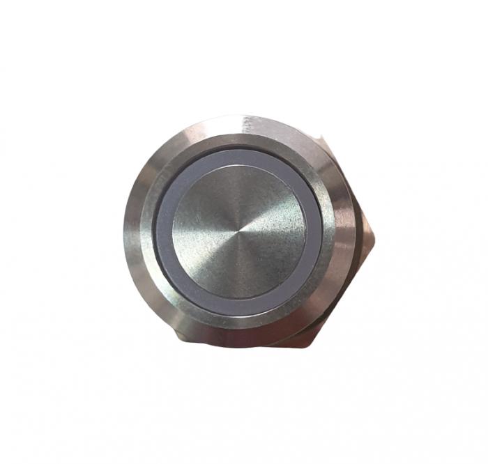 Buton fara retinere NO/NC cu iluminare la 12-24V DC albastru [2]
