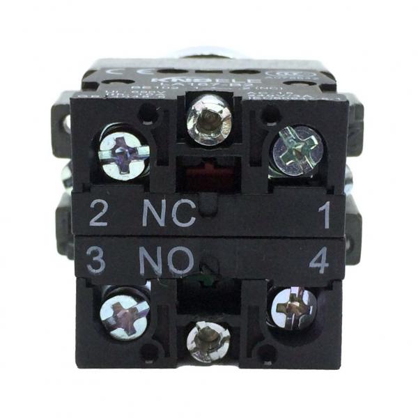 Buton rosu cu apasare cu doua contacte si 2 pozitii LA167-B2-BA45 [1]