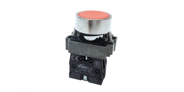Buton rosu cu apasare cu un contact si 2 pozitii LA167-B2-BA42 [0]