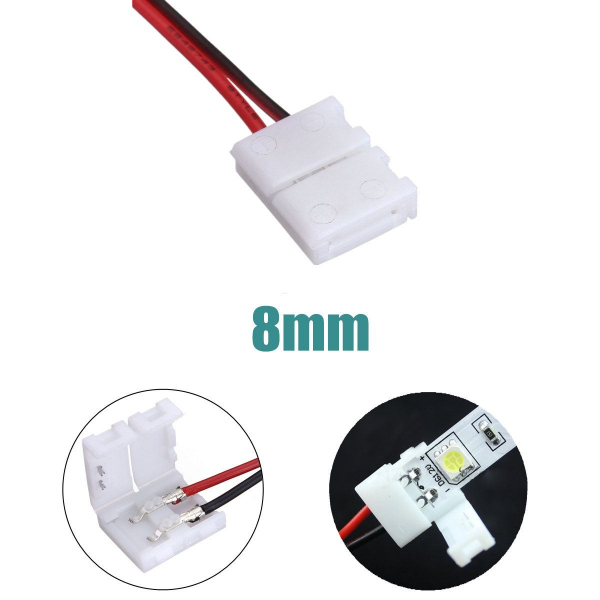 Cablu compatibil cu banda LED 3528 cu 2 clipsuri [2]