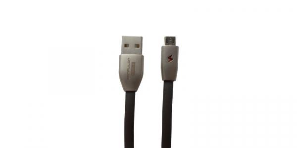 Cablu plat cu indicator LED USB-MicroUSB 3A Konfulon S53 de 1m [0]