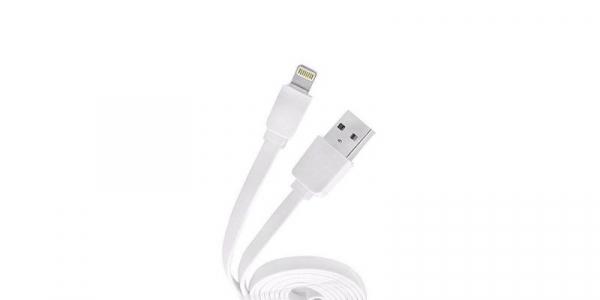 Cablu plat USB-Lightning 2.1A pentru iPhone Konfulon S32 de 1.2m [0]