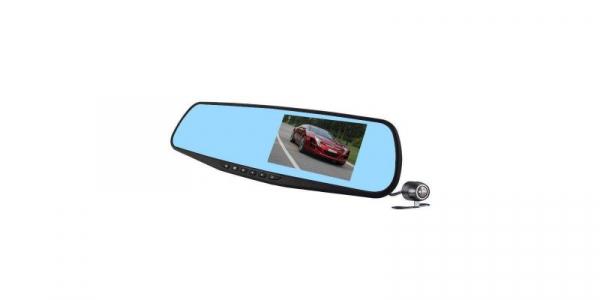 Camera auto cu DVR si display in oglinda retrovizoare universala, FullHD, neagra [0]