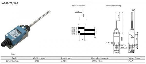 Comutator limitator cu arc cu varf metalic Kenaida LA167-Z8/168 [2]