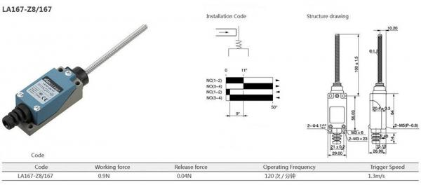 Comutator limitator cu arc cu varf scurt metalic Kenaida LA167-Z8/167 [2]