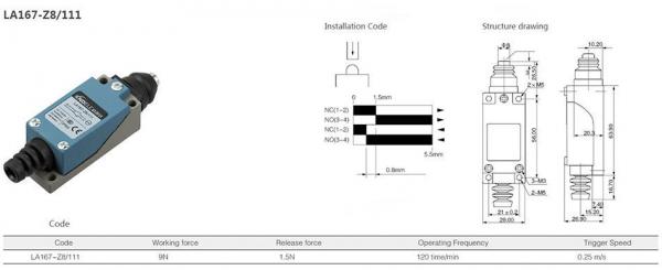 Comutator limitator cu bolt Kenaida LA167-Z8/111 [2]