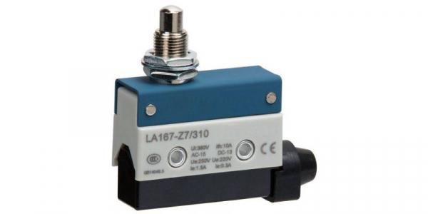 Comutator limitator cu push button fara retinere 24mm inaltime Kenaida LA167-Z7/310 [0]