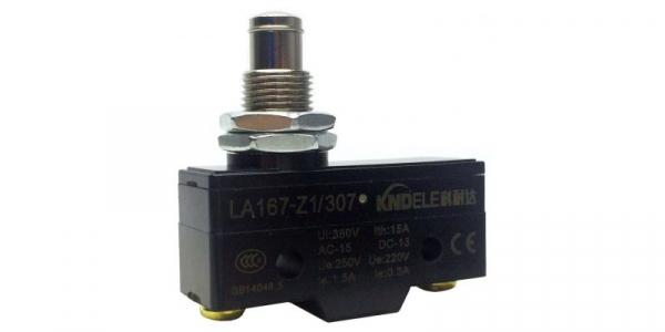 Comutator limitator cu push button fara retinere 25mm inaltime Kenaida LA167-Z1/307 [0]