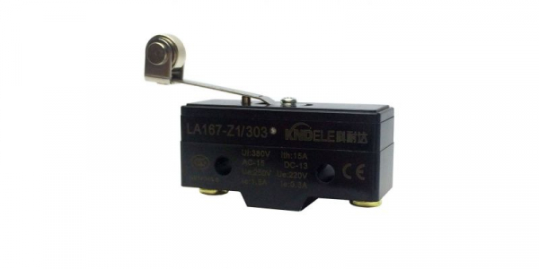 Comutator limitator cu push button, lamela si rola Kenaida LA167-Z1/303 [0]