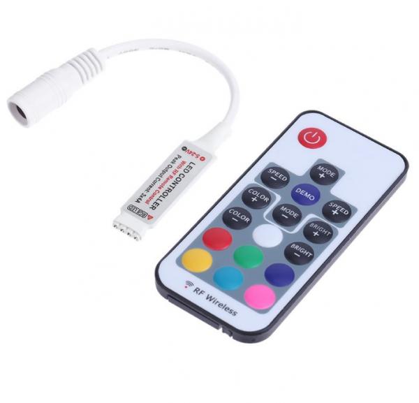Controler banda LED RGB 12V, telecomanda RF 17 taste [0]
