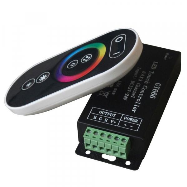 Controler LED RGB Wireless GT666 18A 12/24V [0]