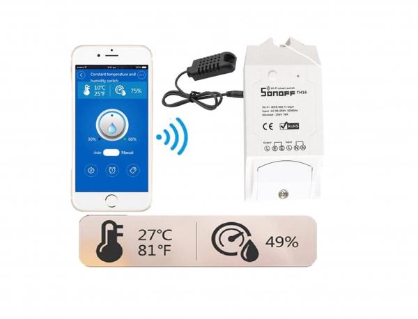 Controller temperatura si umiditate Sonoff TH16 [2]