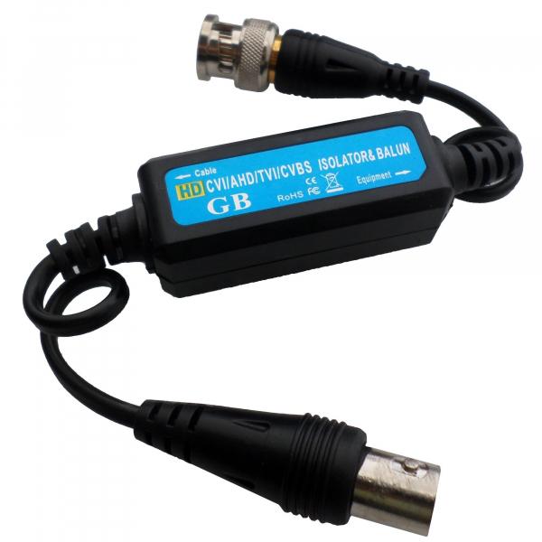 Izolator semnal video si video balun, conector cu BNC(t)-BNC(m) [0]