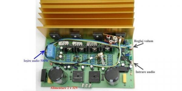 Kit amplificator audio mono SUB.500W [0]