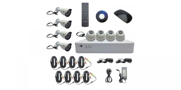 KIT COMPLET: DVR 8 canale FullHD + 4 camere dome 2.0MP + 4 camere bullet 2.0MP [0]