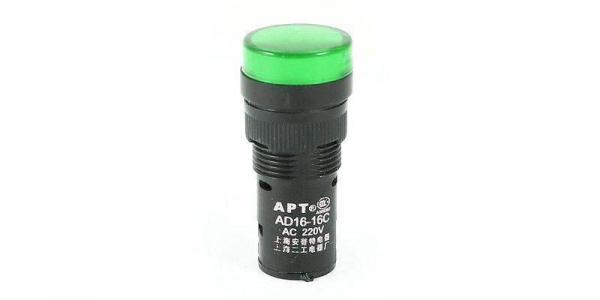 Lampa de panou cu led 220V culoare verde (dimensiuni :15,3/45,2 mm ) [0]
