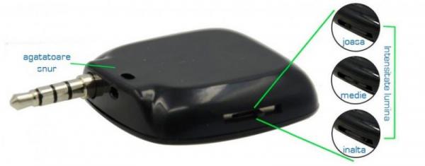 Lanterna selfie suplimentara cu LED-uri, pentru telefoane mobile, conector jack 3.5 [1]