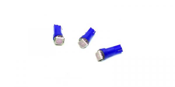 LED auto soclu T5 1x5050 ALBASTRU, 12V, 16mA [0]