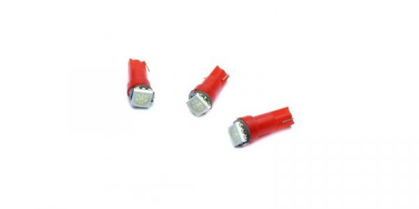 LED auto soclu T5 1x5050 ROSU, 12V, 16mA [0]