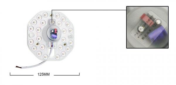 Modul 24 LED-uri pentru aplica, LED Alb Rece 2835, 12W, : Ø 125, alimentare 220V AC [1]