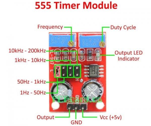 Modul generator semnal dreptunghiular cu NE555, frecventa si factor de umplere reglabil [2]