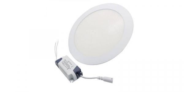 Panou cu LED rotund incastrabil, diametru 30cm, alb natural, 4500K, ultra-slim, 24W, 85-265V AC, (driver 54-96V) [0]